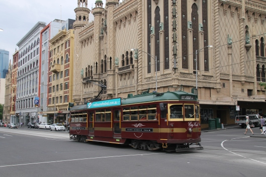 This is Melbourne - we have cool trams and ornate theatres