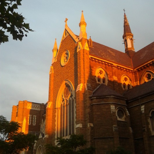 Day 9 - Sunset of St Mary's church in North Melbourne, one of my favourite times of the day.