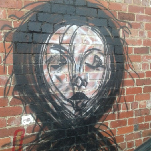 Day 15 - From where I walk. Awesome graffiti streetart in North Melbourne.