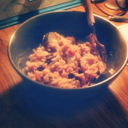 Day 27 - Beans and rice, a meal I will probably be eating a lot more of next semester when I go back to being a full time student!