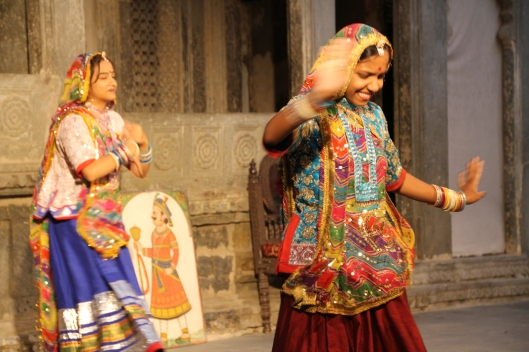 Traditional dance demonstration in Udaipur, Rajastan.