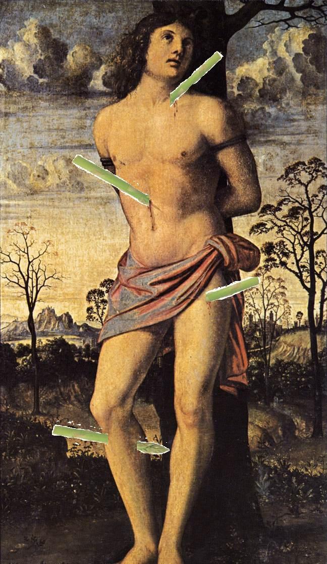 Saint Sebastan Speared with Asparagus