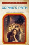 Book Cover. Text reads Fleur Blüm Choose your own romance adventure. Sophie's Path. You're the star of the story! Choose from 14 possibe endings. Illustration of a woman looking pensive with three men behind her.